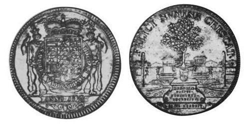 1 Thaler Principality of Ansbach (1398–1792) Silver