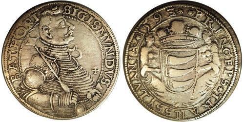 1 Thaler Principality of Transylvania (1571-1711) Silver Sigismund Báthory,  prince of Transylvania (1572 -1613)