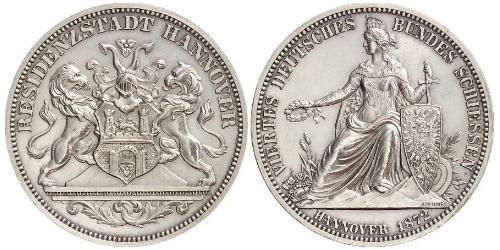 1 Thaler Province of Hanover (1868 - 1946) Silver