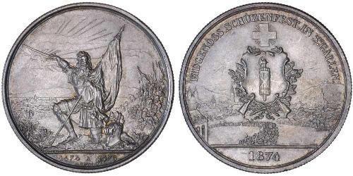 1 Thaler / 5 Franc Svizzera Argento