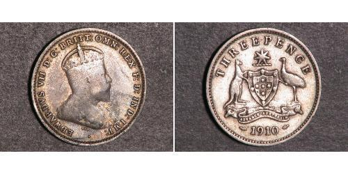 1 Threepence Australia (1788 - 1939) Silver Edward VII (1841-1910)