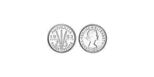 1 Threepence Australia (1939 - ) Silver Elizabeth II (1926-)