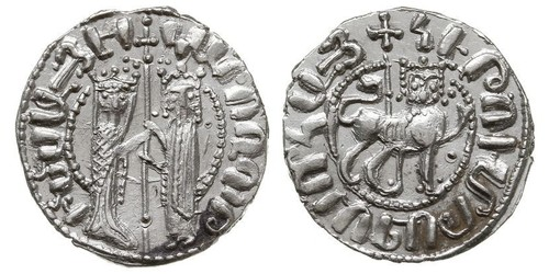 1 Tram Armenian Kingdom of Cilicia (1080-1375) Silver Hethum I (?-1271)