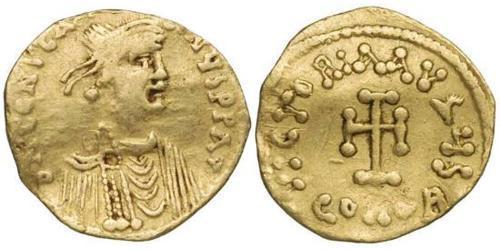 1 Tremissis  Byzantine Empire (330-1453) Gold Constans II (630-668)