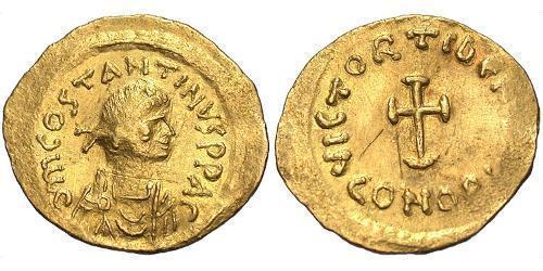 1 Tremissis  Byzantine Empire (330-1453) Gold Tiberius II (535-582)
