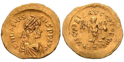 1 Tremissis  Byzantine Empire (330-1453) Gold Basiliscus (?-476)
