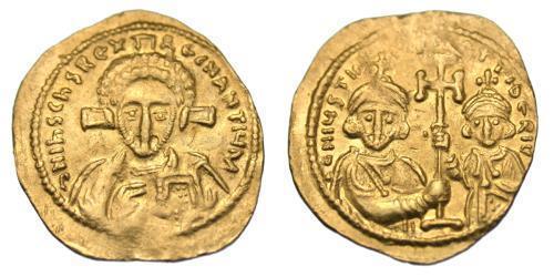 1 Tremissis  Byzantine Empire (330-1453) Gold Justinian II (669- 711)