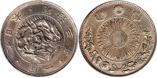 1 Yen Impero giapponese (1868-1947) Argento Meiji the Great (1852 - 1912)