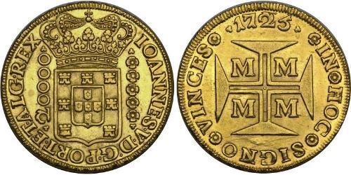 20000 Рейс Бразилия Золото Жуан V король Португалии (1689-1750)