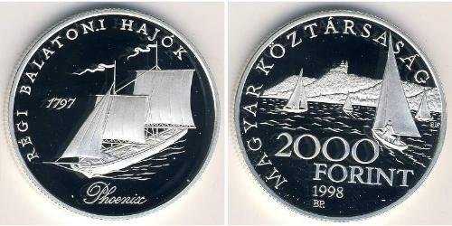 2000 Форинт Венгрия (1989 - ) Серебро