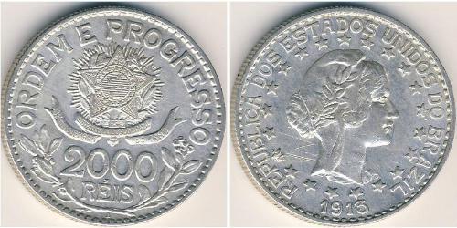 2000 Reis Brasil Plata