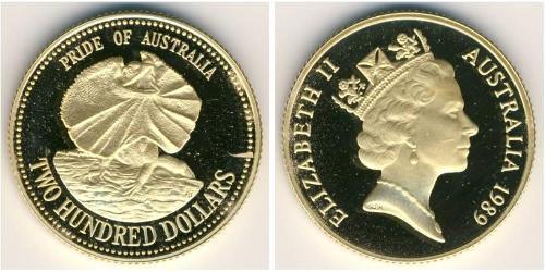 200 Доллар Австралия (1939 - ) Золото