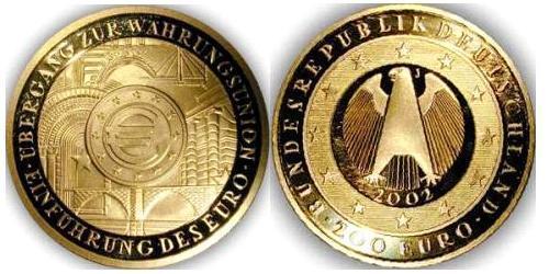 200 Евро Германия Золото
