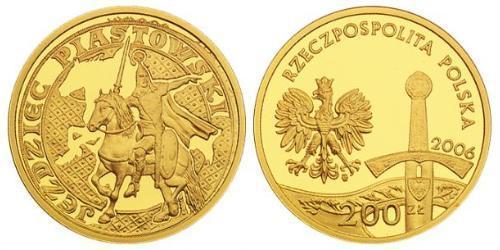 200 Злотый Республика Польша (1991 - ) Золото