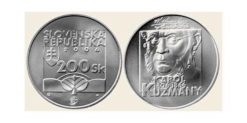 200 Крона Словакия Серебро/Медь