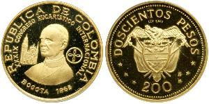 200 Песо Республика Kолумбия Золото
