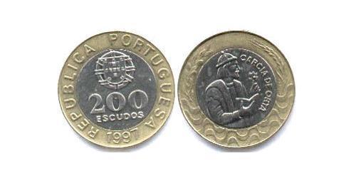 200 Эскудо Португальская Индия (1510-1961) Биметалл
