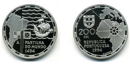 200 Эскудо Португальская Республика (1975 - ) Серебро