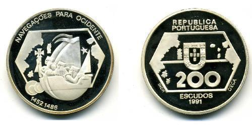 200 Escudo Portogallo (1975 - ) Argento