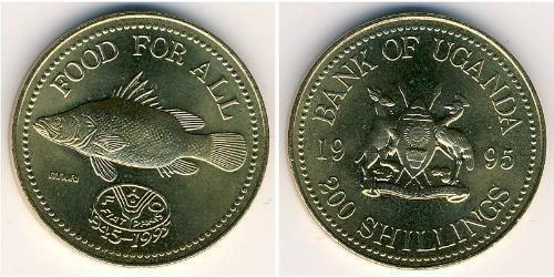 200 Shilling Uganda Latón