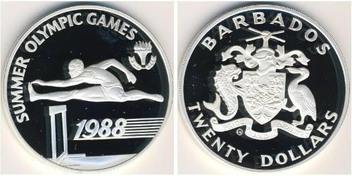 20 Доллар Барбадос Серебро