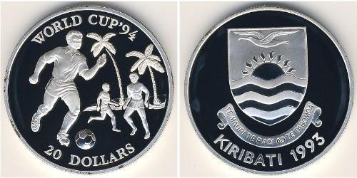 20 Доллар Кирибати Серебро