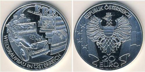 20 Евро Австрийская Республика(1955 - ) Серебро