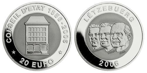20 Евро Люксембург Серебро-Титан