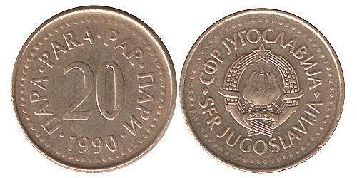 20 Пара Социалистическая Федеративная Республика Югославия (1943 -1992) Цинк/Медь