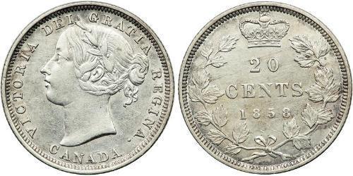 20 Цент Канада Срібло Вікторія (1819 - 1901)