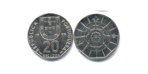 20 Эскудо Португальская Индия (1510-1961) Никель/Медь
