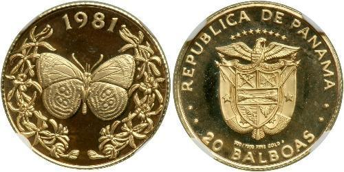 20 Balboa Republic of Panama Gold