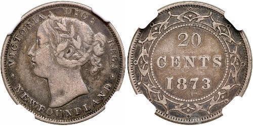 20 Cent Canada / Terre-Neuve-et-Labrador Argent Victoria (1819 - 1901)