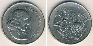 20 Cent South Africa Copper/Nickel