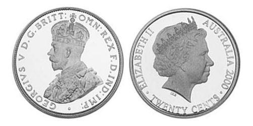 20 Cent Australia (1939 - ) Silver Elizabeth II (1926-)