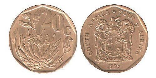 20 Cent South Africa Steel/Brass