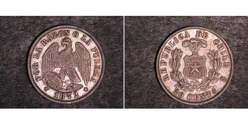 20 Centavo Cile Argento