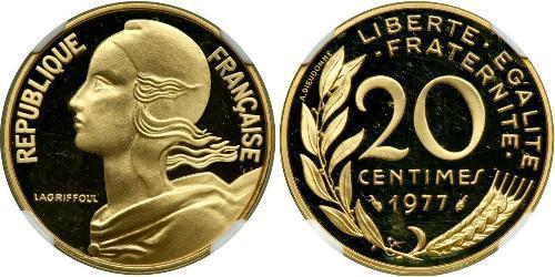20 Centime Francia / Quinta República Francesa (1958 - ) Oro