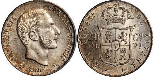 20 Centimo 菲律宾 銀