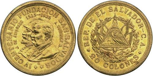 20 Colon El Salvador Gold