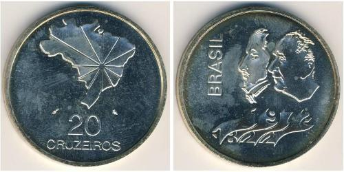 20 Cruzeiro Brazil Silver