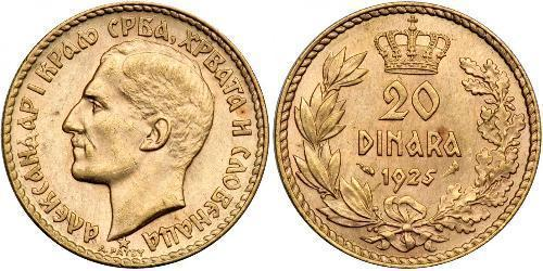 20 Dinar 南斯拉夫社会主义联邦共和国 (1943 - 1992) 金