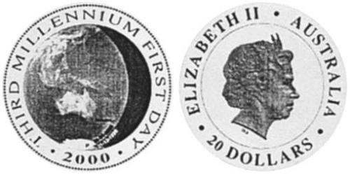 20 Dollar Australia (1939 - ) Silver Elizabeth II (1926-)