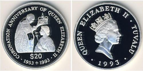 20 Dollar Tuvalu Silver