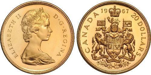 20 Dollaro Canada Oro Elisabetta II (1926-)