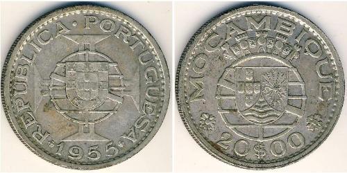 20 Escudo Mozambique 銀