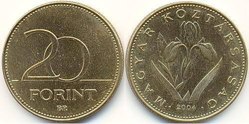 20 Forint Hungary (1989 - ) Brass