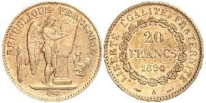 20 Franc French Third Republic (1870-1940)  Gold