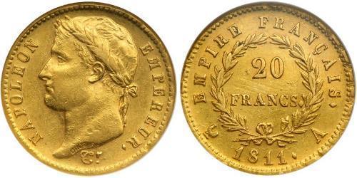 20 Franc Premier Empire (1804-1814) Or Napoléon Ier(1769 - 1821)