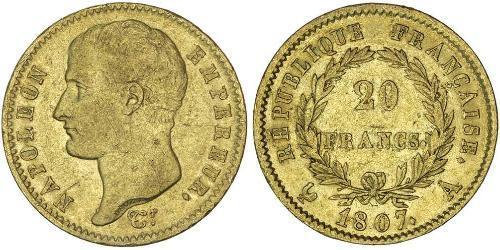 20 Franc Premier Empire (1804-1814) Or Napoléon Ier(1769 - 1821)